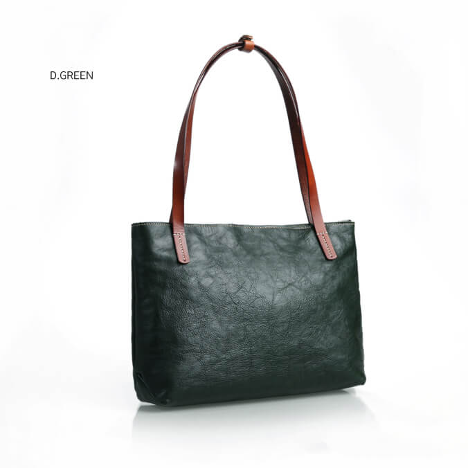 a8cb4058d0c6 Vegetable Tanned Leather Tote Bag
