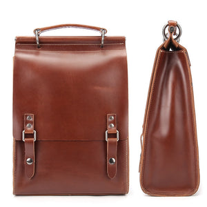 Vintage Leather Rucksacks, Leather Backpack Purse BB1010