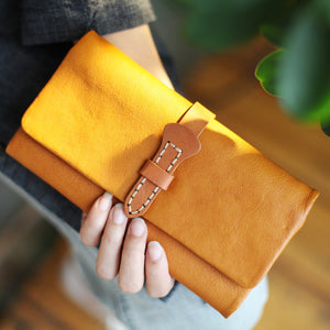 Wallets For Women, Handmade Leather Multi-card Envelope Purse CM6633 - echopurse