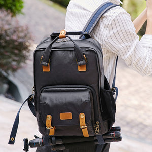 Waterproof DSLR Camera Backpack Canvas Camera Backpack Travel Backpack - echopurse