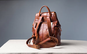Women's Backpack, Top Grain Leather Handbag, Soft Leather Shoulder Bag SD438 - echopurse
