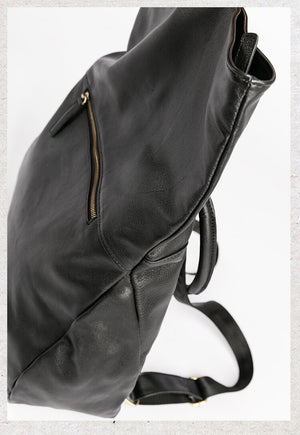 Women's Leather Backpack, Black Leather Backpack, Designer Leather Backpack, Waterproof Backpack AK7150