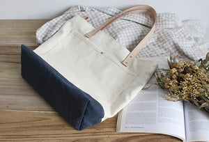Womens Tote Bags, Vintage Style Shoulder Bags, Canvas Shopper Bag, Handmade Gifts