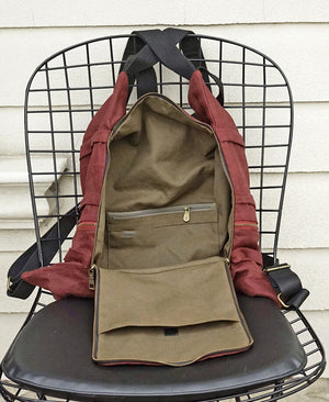 canvas backpack, women canvas rucksack, best travel backpack SD018 - echopurse