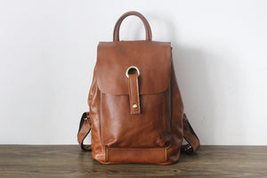 Handmade Women Fashion Backpack, Leather Packsack PPM2109 - echopurse