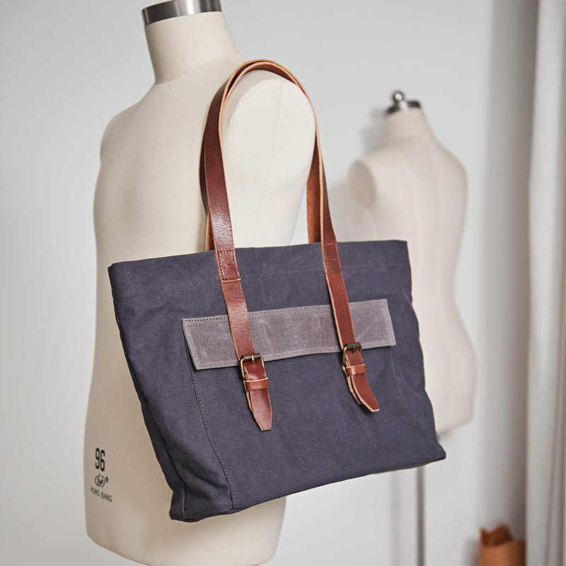 336e27e3cfa3 Handmade Leather Tote Bag