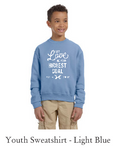2017 His Chase YOUTH SWEATSHIRT - Light Blue