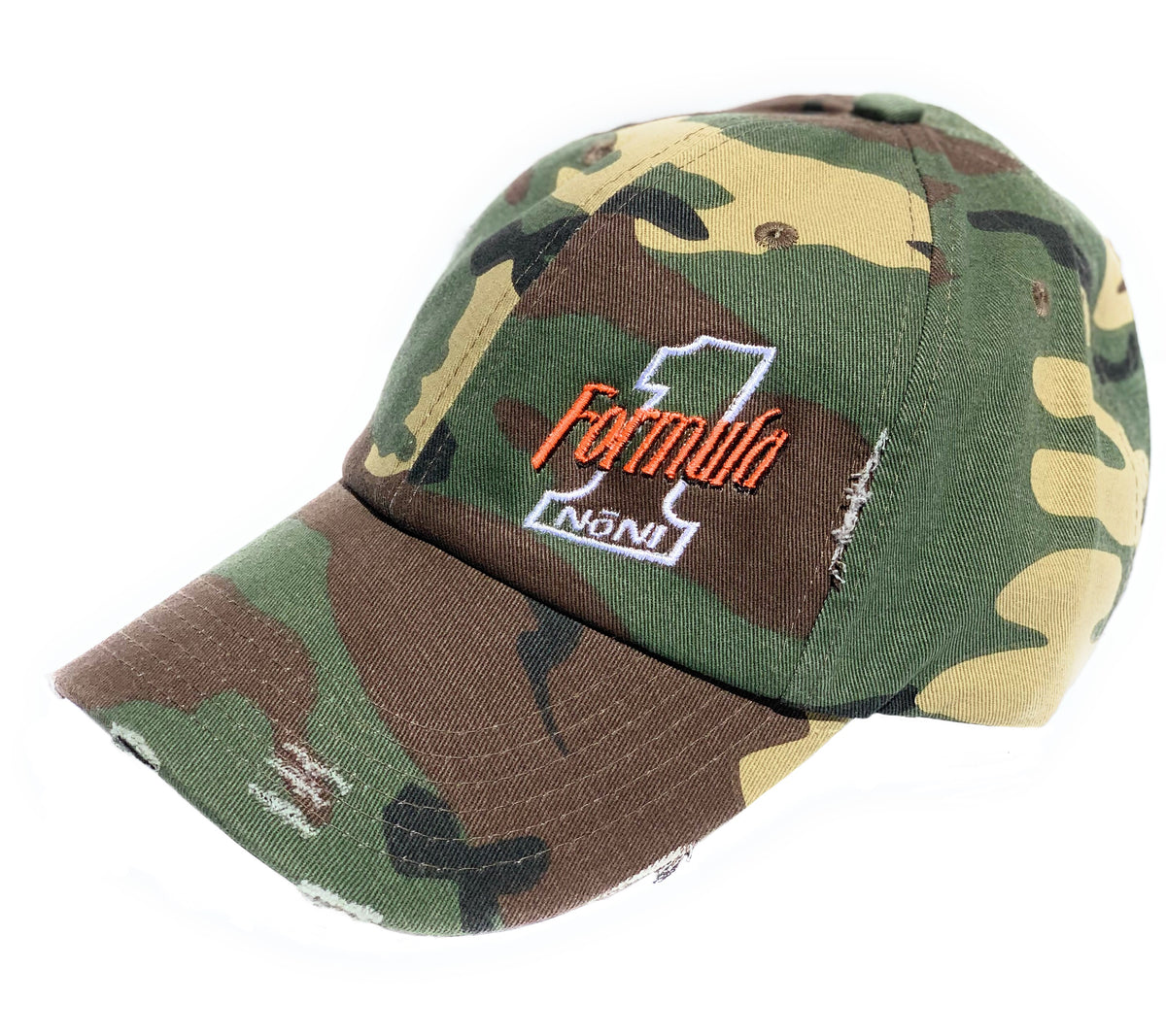 Camo & Hunter Orange Hat (Buckle Closure)
