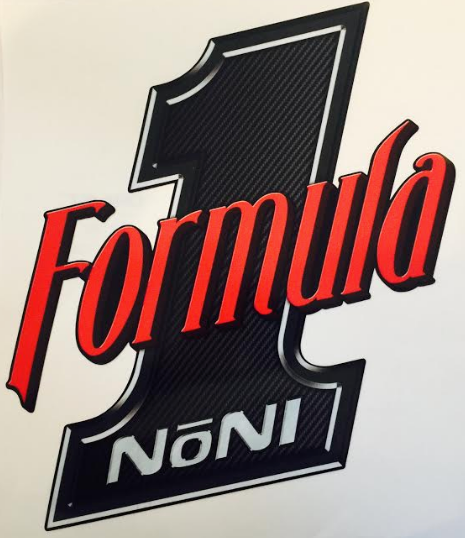 "Formula 1 Noni- Trailer Decal Approx. 14"" x 14"""