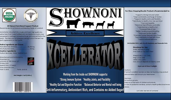 Formula 1- SHOWNONI XCELLERATOR Available as Single or 4pk