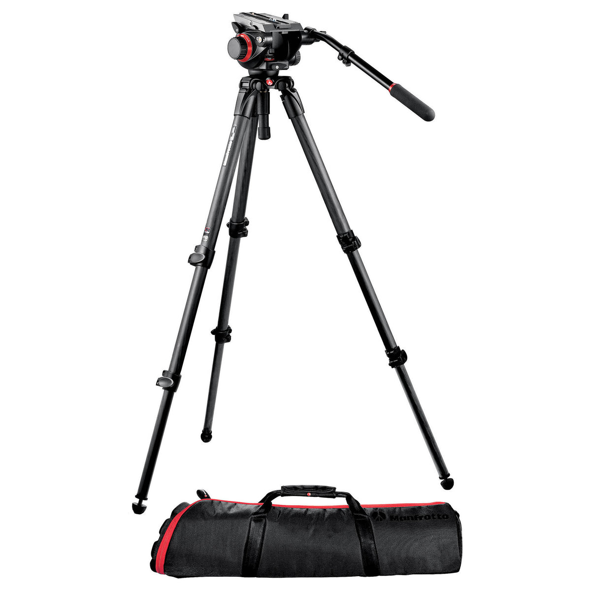Manfrotto 504HD with Carbon Tripod Legs and Carrying Bag