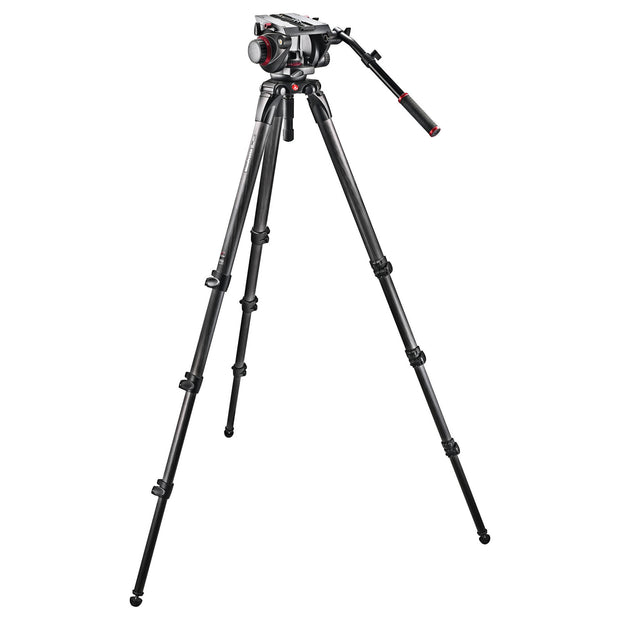 Manfrotto 509HD Tripod 100mm Head with 536K 3-Stage Carbon Legs