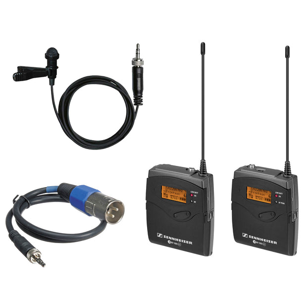 Sennheiser G3 EW100 wireless transmitter receiver lapel mic kit
