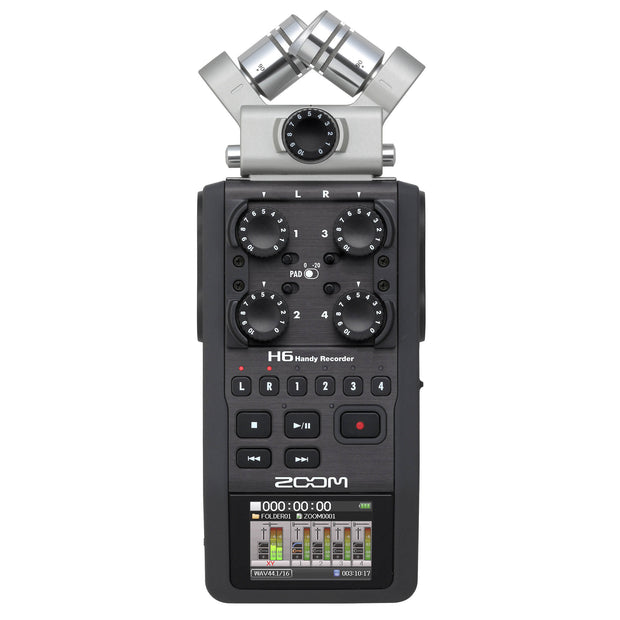 Zoom H6 6-Channel Audio Recorder XY