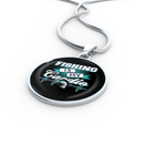 Jewelry - Fishing Is My Cardio Luxury Necklace W/ Circle Charm