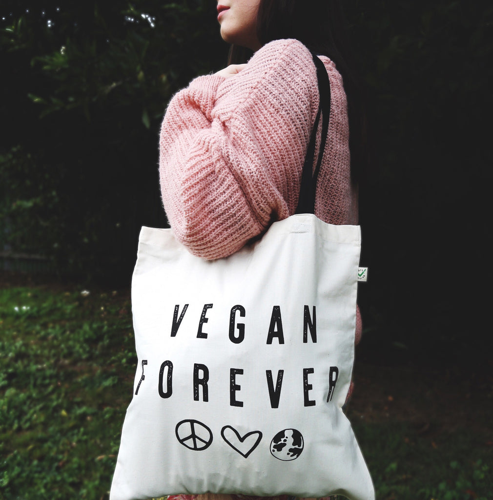 Vegan Forever Tote Bag, Earth Forever Vegan Clothing Brand