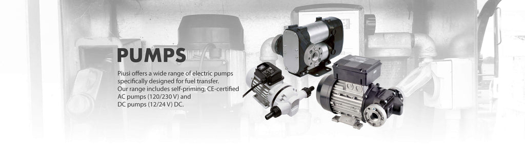 Piusi Transfer Pumps - 12V, 24V, 240V