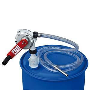 PIUSI AdBlue® HAND Pump with DN50 Male BSP Thread, 2.5m delivery hose, stainless steel spout, 38L per 100 revolutions