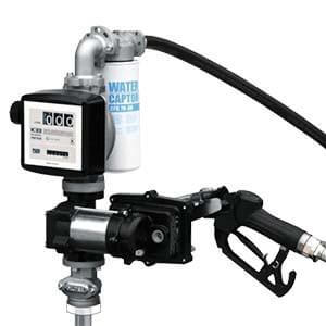 PIUSI EX50 12V DC Pump Kit - 50lpm, comprising Pump, Auto Nozzle, Telescopic Suction Tube, 4m Delivery Hose, K33 Meter
