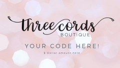 Gift Card purchase with three cords boutique online affordable women's clothing in cypress tex