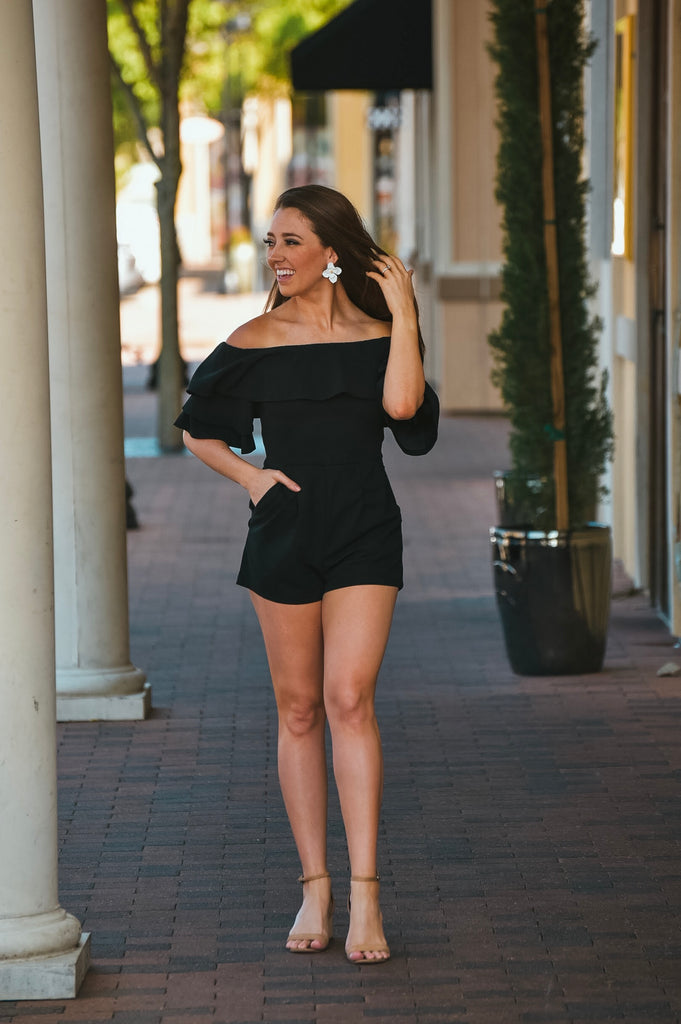 City Lights Romper in Black