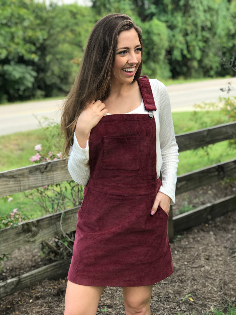 A Walk in the Park Overall Dress