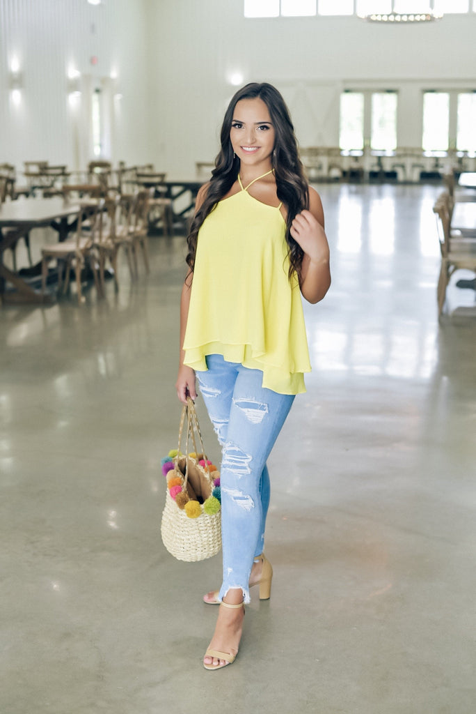 Amanda Top in Yellow