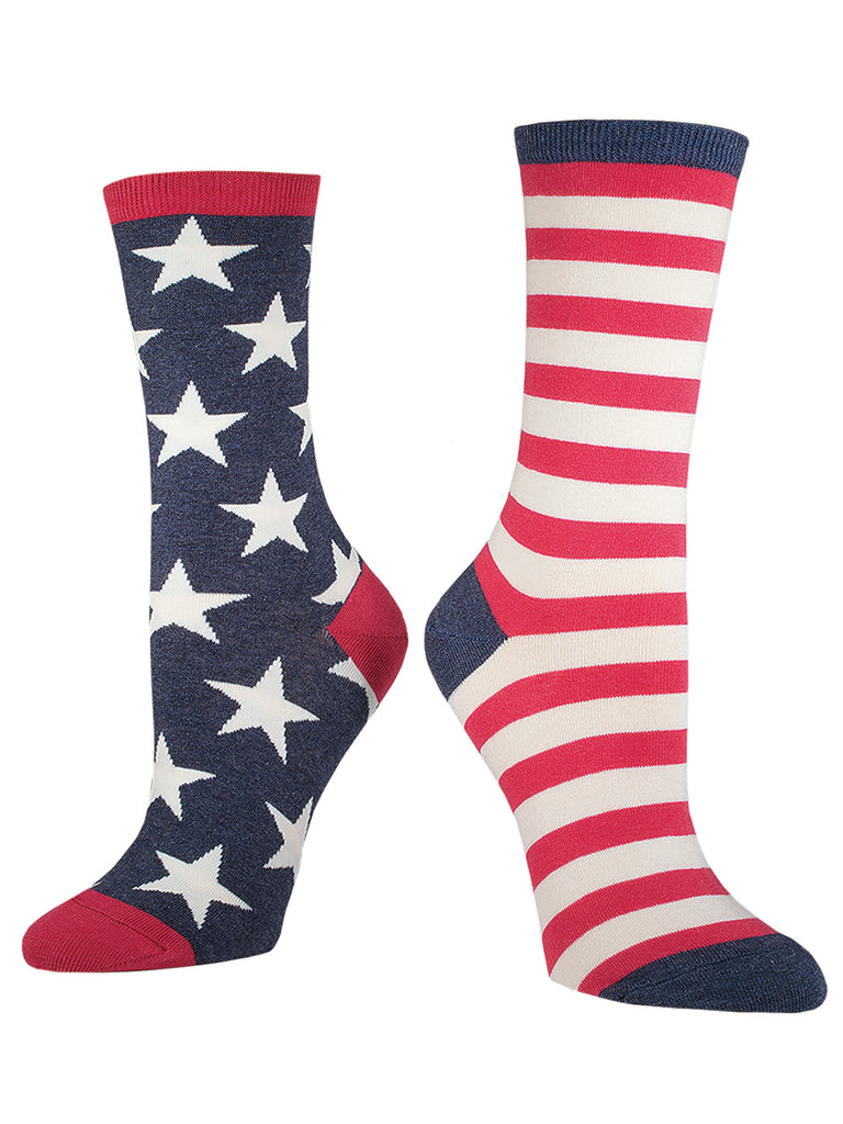 American Flag Socks - Women