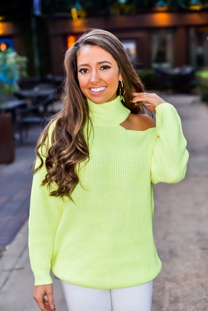 Attention Getter Sweater in Neon Yellow