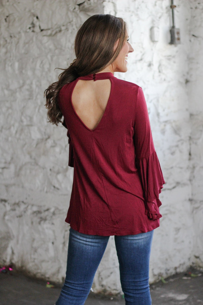 Better Together Top - Garnet Red