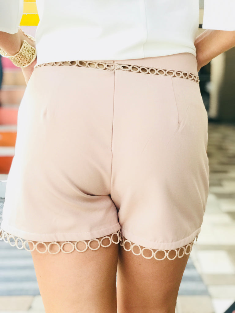 Blush Dress Shorts