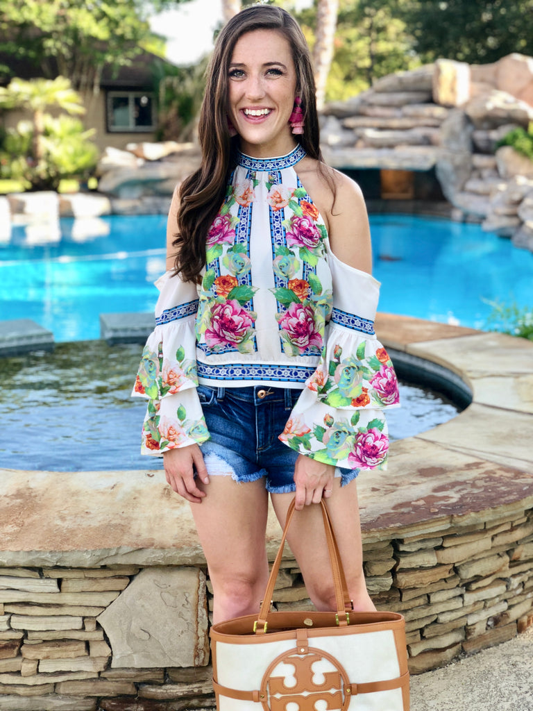 Bohemian Cold Shoulder Top
