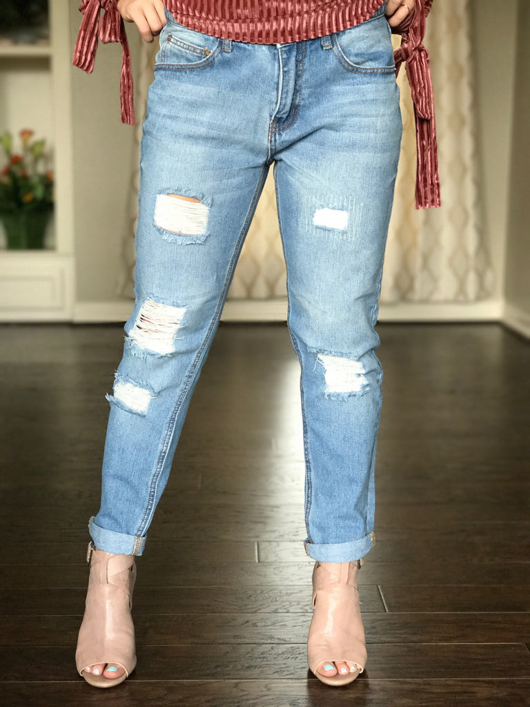 Boyfriend Jeans - Denim