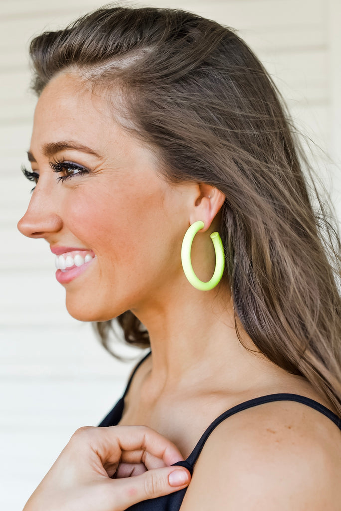 Brighten the Day Matte Metal Hoop Earrings