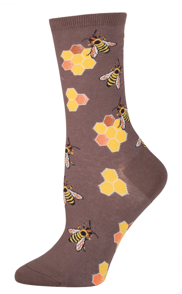 Busy Bee Brown Socks