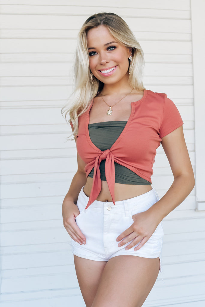 California Sunset Top in Rust