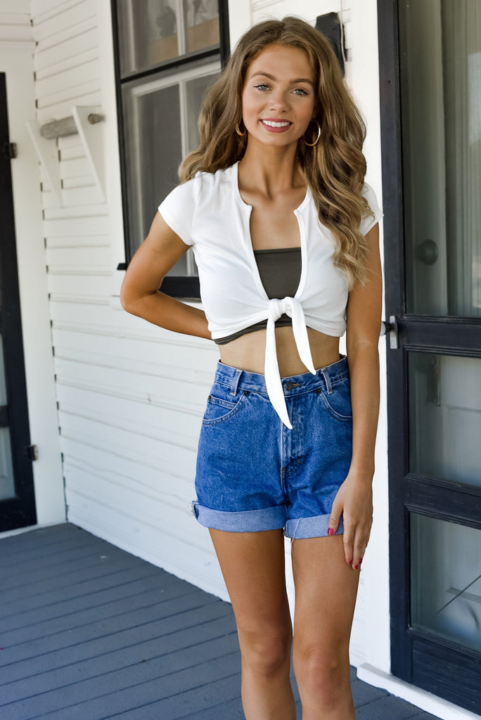 California Sunset Top in White
