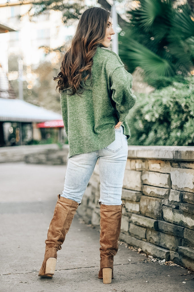 Canyon Village Sweater in Olive