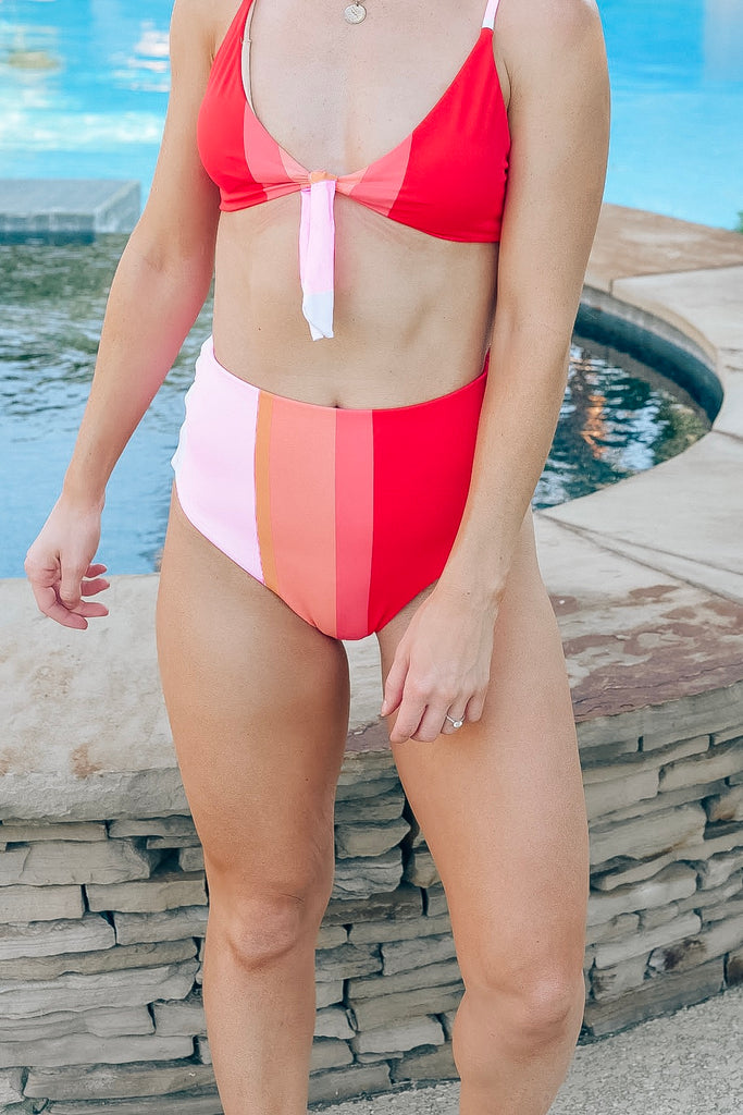 Chasing Sunsets High Waisted Swimsuit Bottom