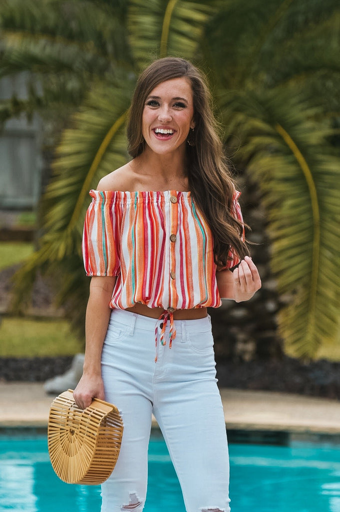 Colorful Adventures Striped Top
