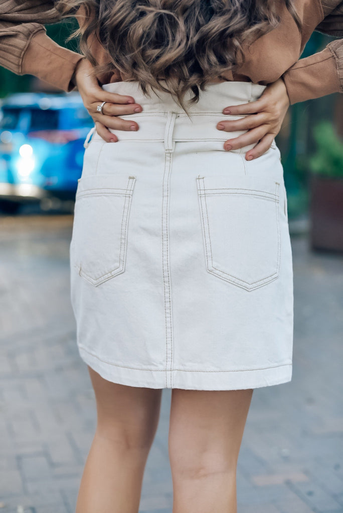 Daydreamer Skirt in Cream