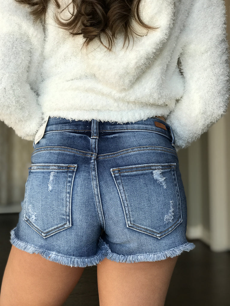 Destin Dark Denim Shorts