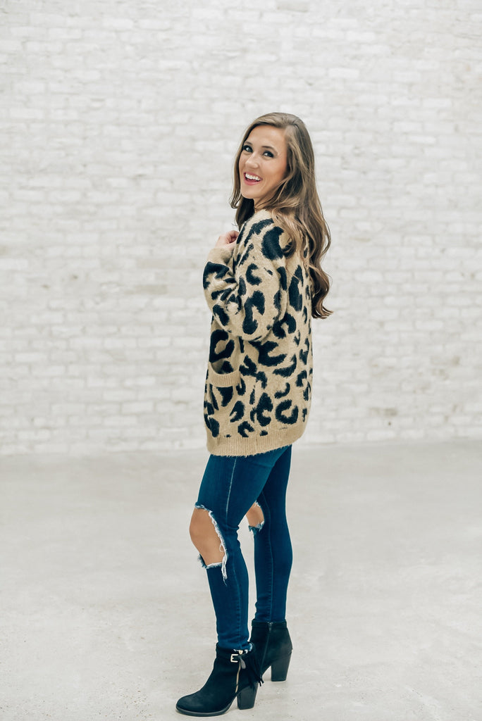 Downtown Walks Leopard Cardigan