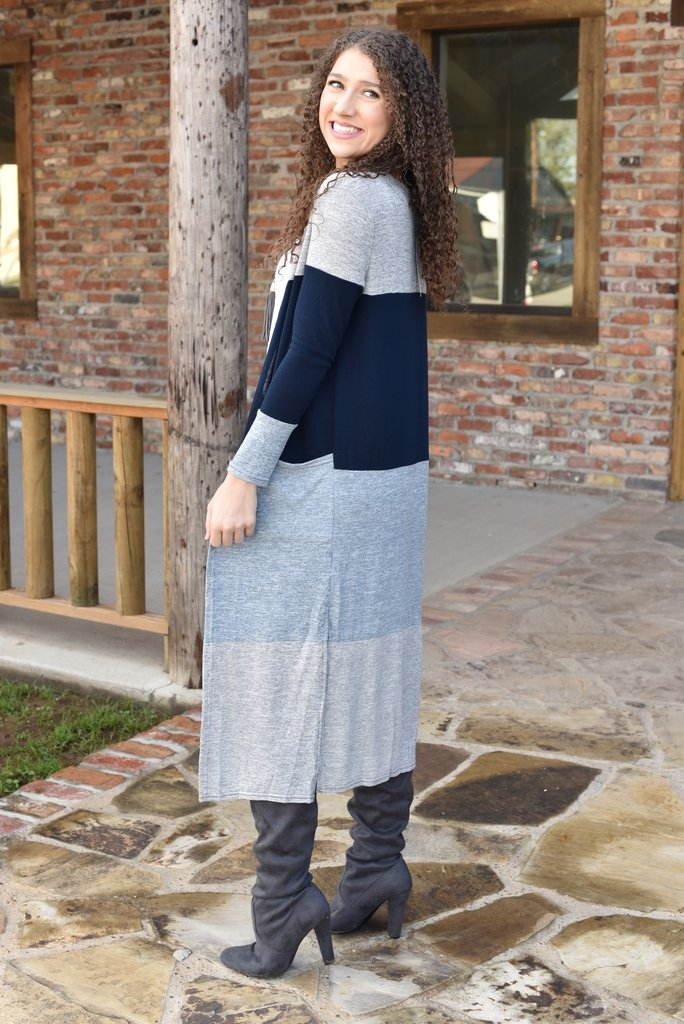 Dreaming in Charleston Color Block Cardigan