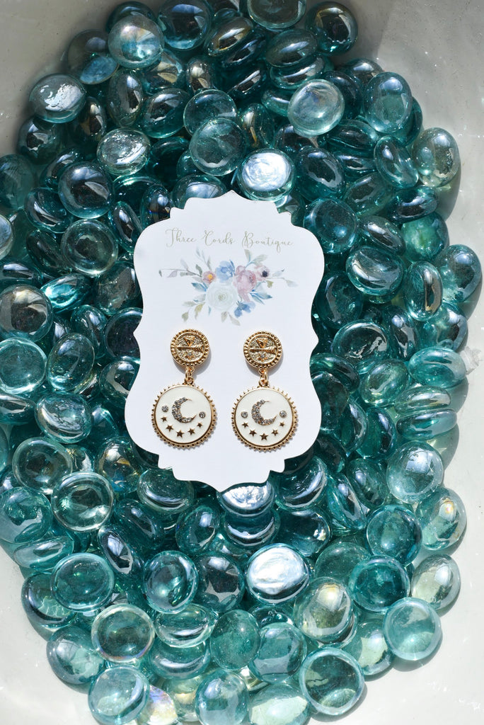 Enchanted Moon Drop Earrings