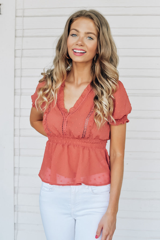 Express My Love Top in Clay