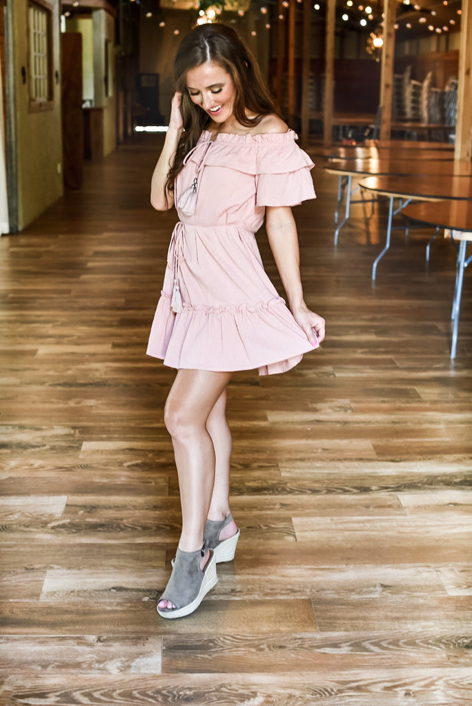 Genuine Heart Dress in Blush