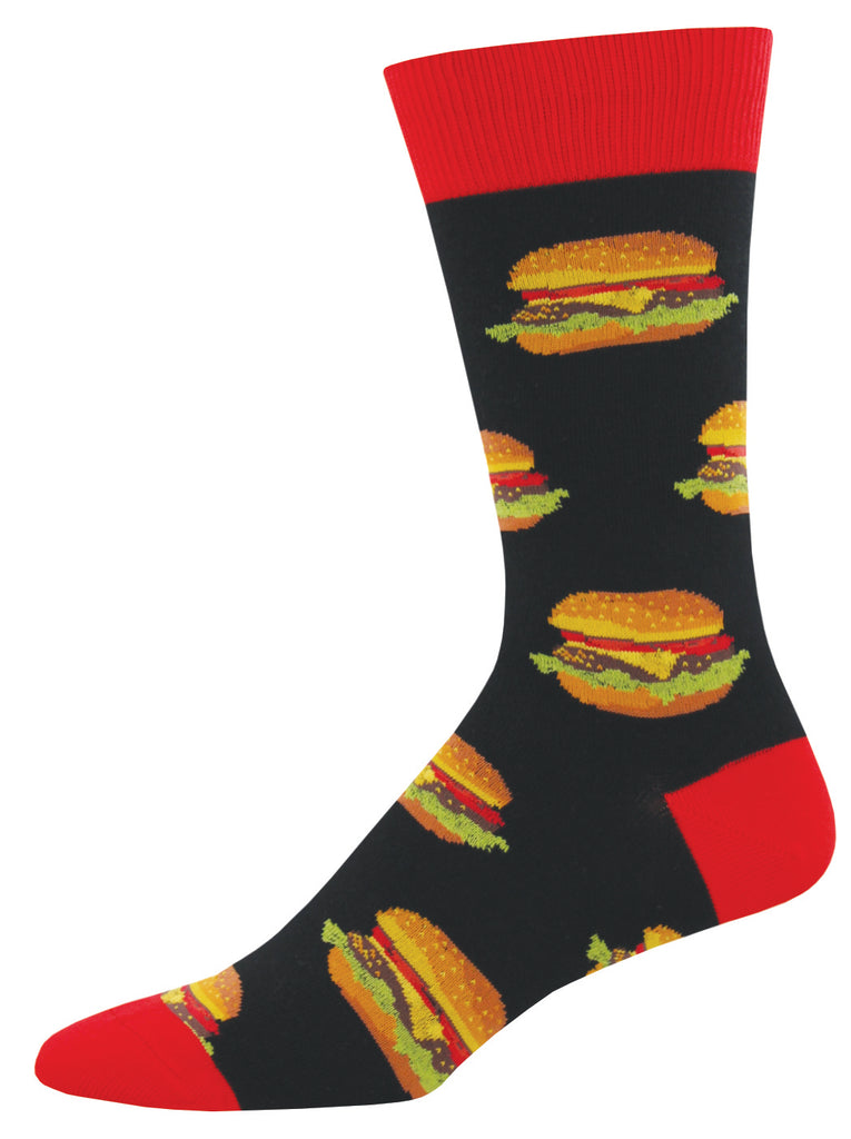 Good Burger Socks - Black - Men's Size
