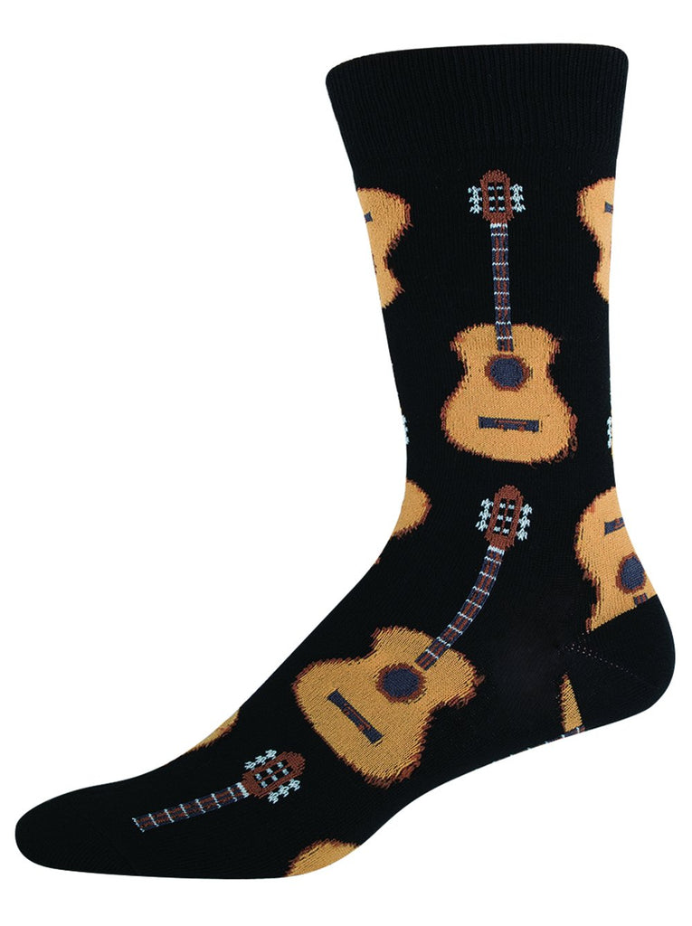 Guitars Black Socks - Men's Size