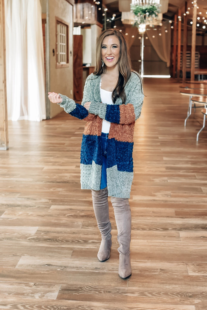 Hey Nashville Chenille Striped Cardigan